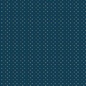 Makower UK - Super Bloom - 7128 - Poppy Seed Spots on Blue Background - 9464B - Cotton Fabric (1)
